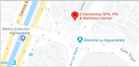 mapa 5 elementos spa & Wellness Center